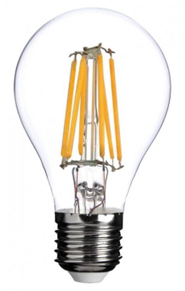 12V E27 A60 2W 2x Filament led pære, varmhvit Solbua.no