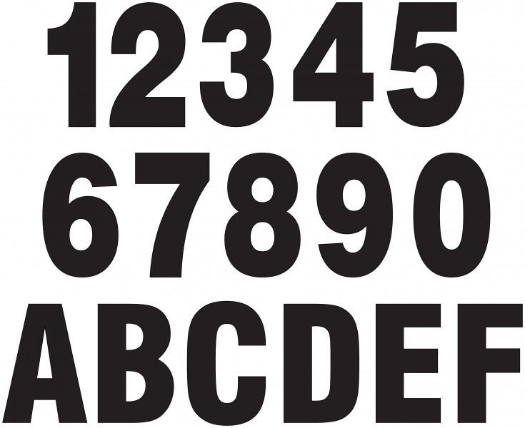 Tall og bokstaver til skilt - Hytte & Fritidsbutikken Solbua
